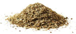 Grinded camelina husks